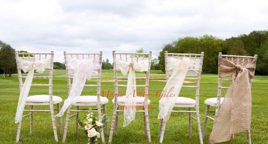 Beautiful vintage chair decor by Fuschia - perfect for vintage style / rustic weddings.