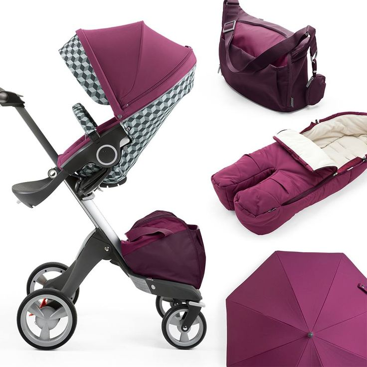 stokke xplory purple w cube style kit coordinating accessories stokke xplory stroller. Black Bedroom Furniture Sets. Home Design Ideas