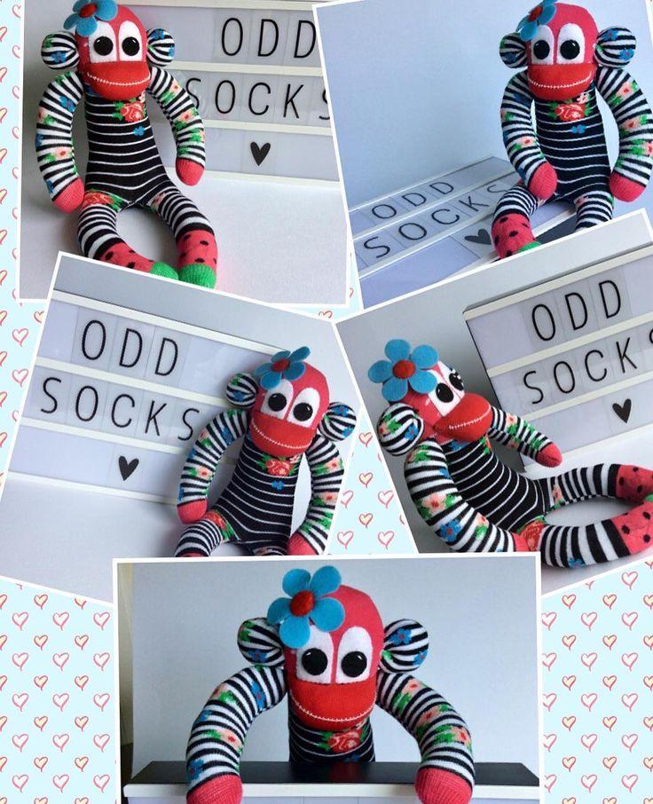 Odd socks make great monkeys #Sockmonkeys #sewing #oddsocks #handmade #sunnyteddys