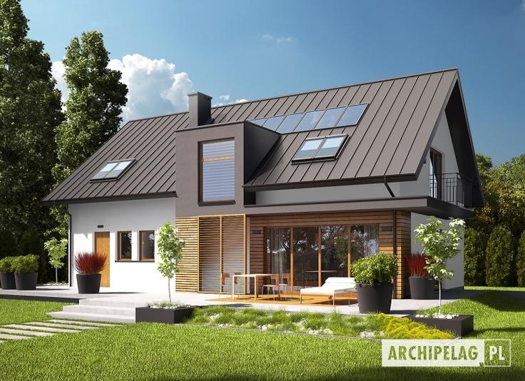 #Dom E6 (wersja A) spełni oczekiwania miłośników współczesnej architektury.