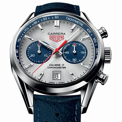 At the end of 2013, TAG Heuer springs a surprise by launching two new Carrera chronographs offering variations on the model celebrating Jack Heuer's 80th birthday – designed by Jack Heuer himself in 2012 TAG Heuer CARRERA Calibre 17 Chronograph Special Editions (See more at: http://watchmobile7.com/articles/tag-heuer-carrera-calibre-17-chronograph-special-editions) (2/3) #watches #tagheuer @Tyler Gerritsen Heuer
