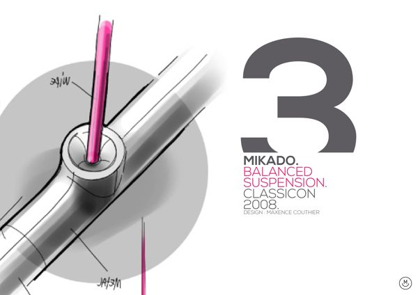 Mikado Suspension . Classicon by maxence couthier, via Behance