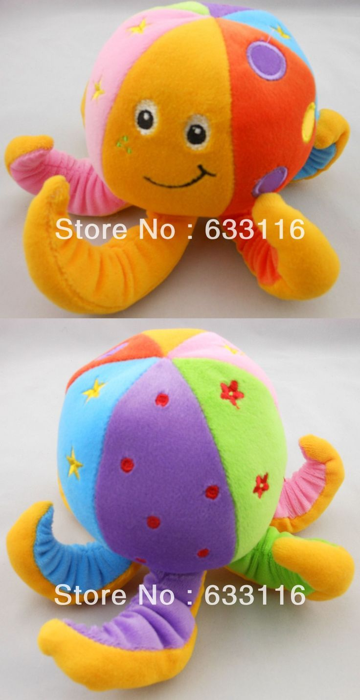 Free shipping 1pcs/lot retail 2013 hot sale new Paul the octopus baby bell toy octopus embroidery baby rattles baby doll toys