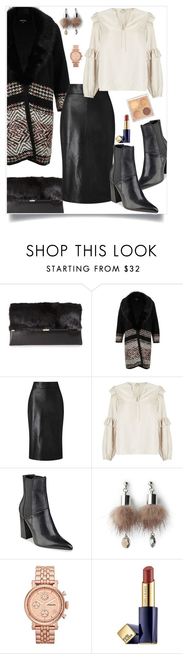 """""""Lady"""" by hani-bgd ❤ liked on Polyvore featuring Diane Von Furstenberg, River Island, Somerset by Alice Temperley, GUESS, Simons, FOSSIL and Estée Lauder"""