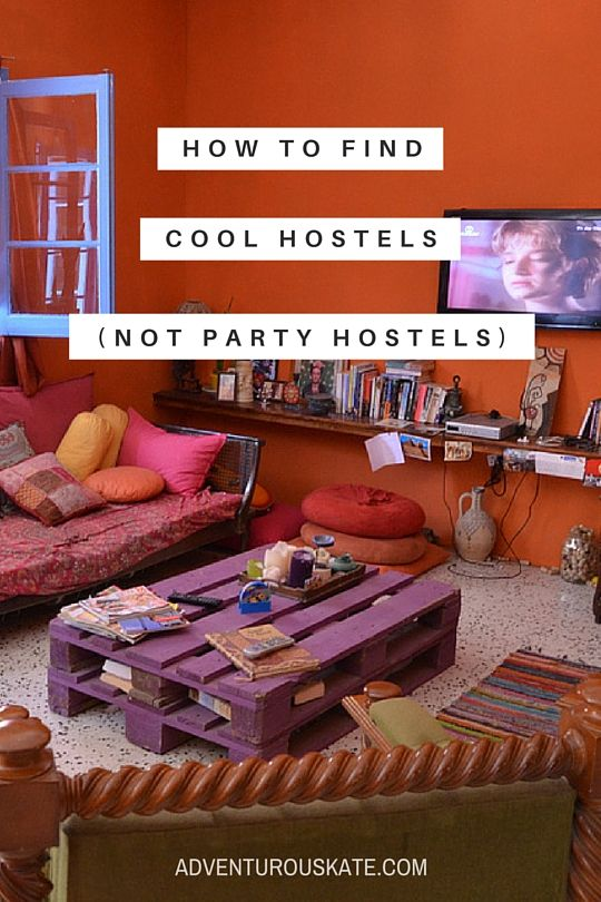 Though I used to be all about the party hostels, today I'm all about the cool hostels — ones that aren't about partying but relaxing, socializing, and having a great time. In this week's question, I show a reader how to find those hostels.