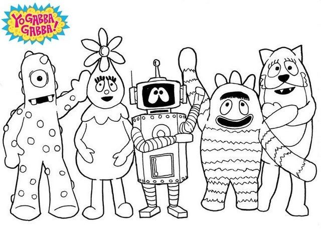 Friendly Toy Monsters Yo Gabba Gabba Coloring Pages Also See