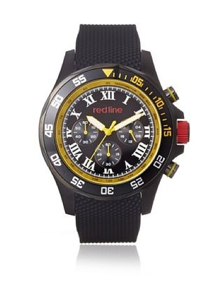 80% OFF red line Men's 60054 Tracker Black/Yellow Rubber Watch