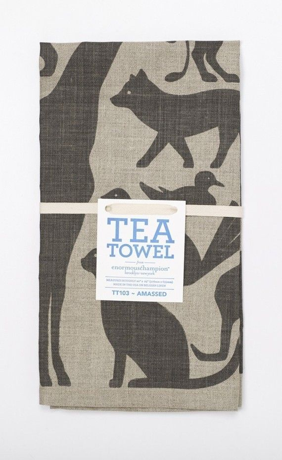 enormous champion tea towel