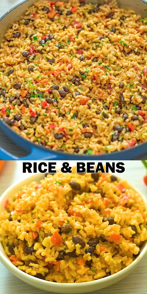 I've tried so many variations of Rice and Beans, and this one is definitely the winner! It makes an amazing side dish or a satisfying meal. I honestly can't wait for you to try it! FOLLOW Cooktoria for more deliciousness! #rice #beans #dinner #lunch #sidedish #vegan #vegetarian #plantbased #cooktoria