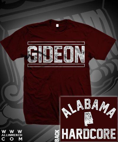 GIDEON Maroon Tee Shirt | Alabama Hardcore | $14