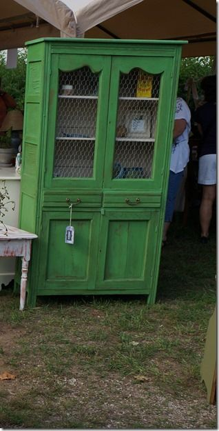 Primitive China Cabinet Painted In Annie Sloan Antibes.