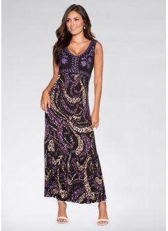 Maxi-jurk, BODYFLIRT, zwart/paars