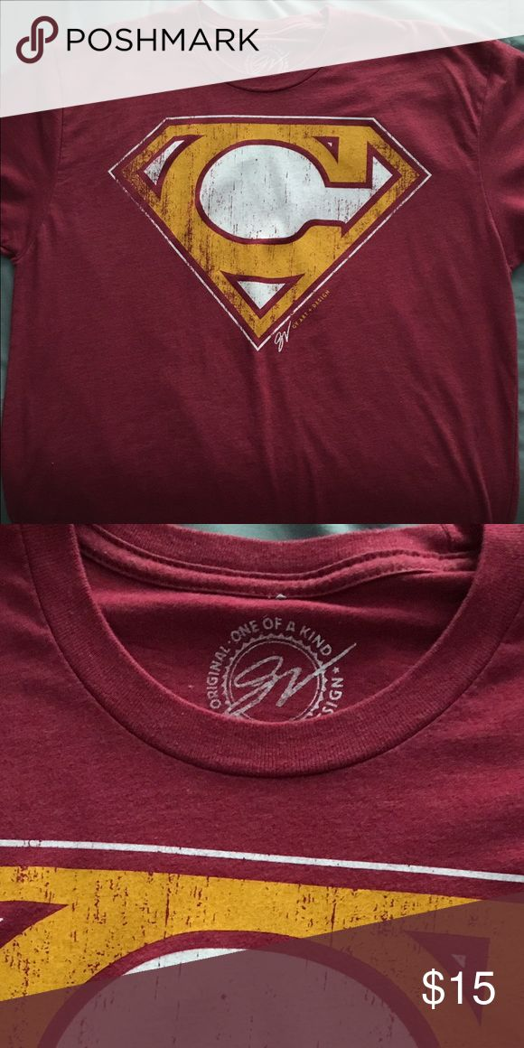 GV Art and Design Men's signature CLE tee Maroon CLE tee with yellow lettering. Has been worn, but in great condition! Men's medium, does fit a tad smaller. Shirts Tees - Short Sleeve