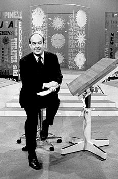 """Charles Kuralt, famous journalist known for his """"On the Road"""" segments on CBS Evening News with Walter Cronkite, serving as the first anchor of CBS News Sunday Morning, and writing travel articles and books. During his career, he won three Peabody Awards and ten Emmy Awards for journalism. Born in Wilmington, NC."""
