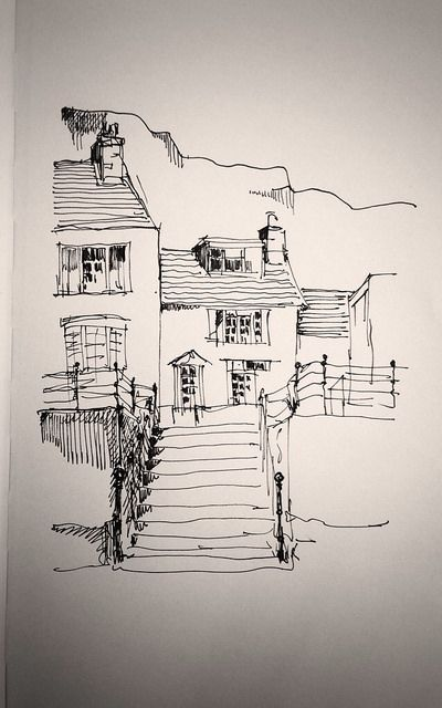 Staithes cottages by John Harrison, artist, via Flickr