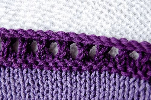 She wrote this as a picot edging, but I like it BEFORE it's rolled over to make the picot!