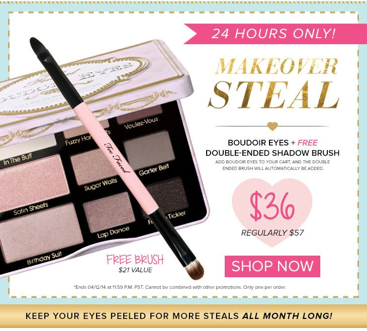 Amazing Too Faced Cosmetics Deal! HURRY 24 Hours Only! Via @GlitzGlamBudget