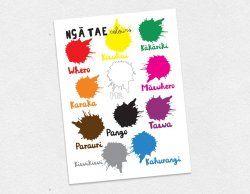 Te Reo Maori Colours Poster