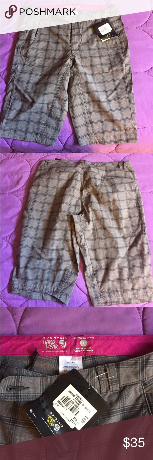 NWT Montain Hard Wear shorts, women's size 6 Brand new shorts, with a lot of pockets. Great for hiking and outdoor activists. Love the pants but unfortunately they are way to be on me. Moutain Hard Wear Shorts