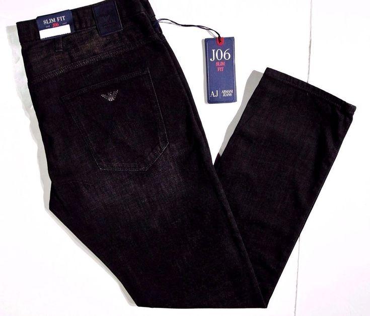 Armani Jeans slim skinny men's J06 size 34x30 light poly/cotton NEW on SALE #ArmaniJeans #SlimSkinny