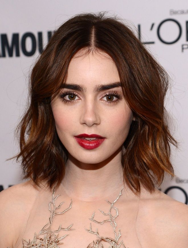 Wish we could have Lily Collin's full brows #LilyCollins #Brows #CelebrityBrows #Eyebrows