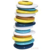 Βάζο Pebbles Colore 36CM Παιχνιδιάρικο βάζο από λουστραρισμένο δολομίτη που έχει ως σχέδιο πολύχρωμα βότσαλα τοποθετημένα το ένα πάνω στο άλλο.