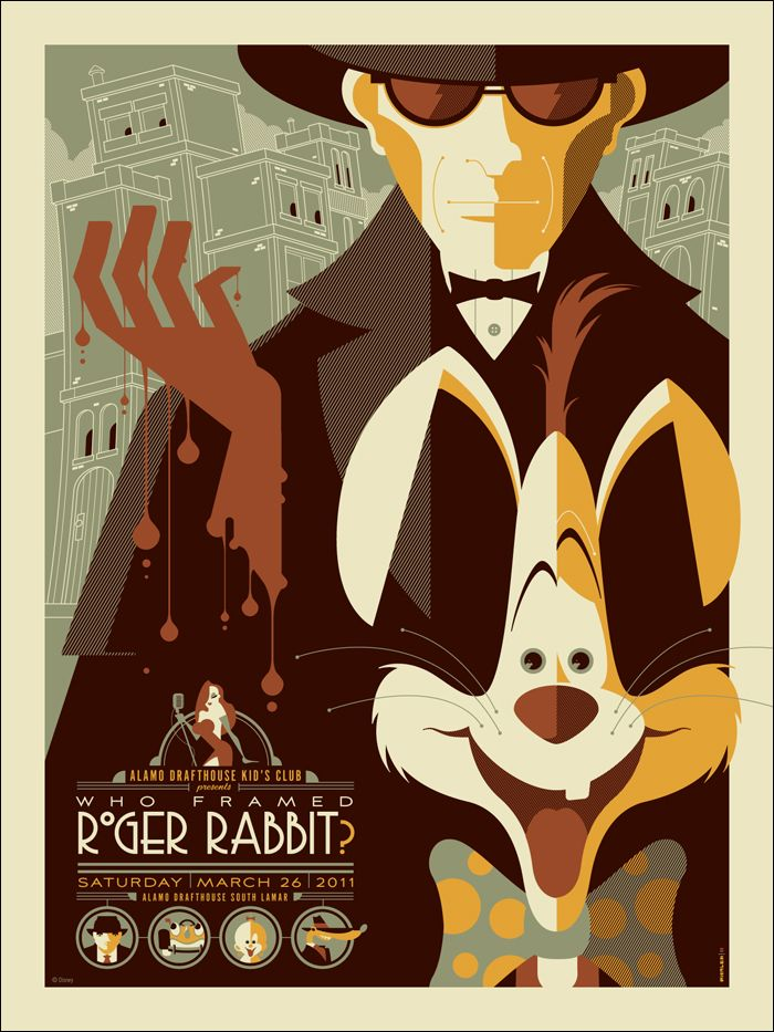 who framed roger rabbit Movie Posters, Vintage Disney, Tom Whalen, Frames Rogers, Posters Design, Disney Posters, Rogers Rabbit, Art Deco, Vintage Style