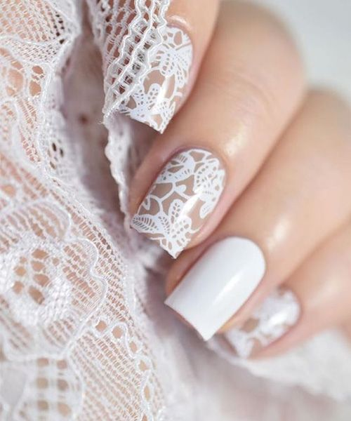 The Most Loving Lace Nail Art Design