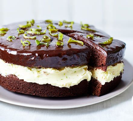 Give chocolate cake a zesty lift with lime buttercream filling, chocolate and lime icing and candied zest to decorate - an irresistible flavour pairing!