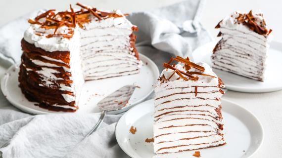 Шоколадный блинный торт. Пошаговый рецепт с фото, удобный поиск рецептов на Gastronom.ru