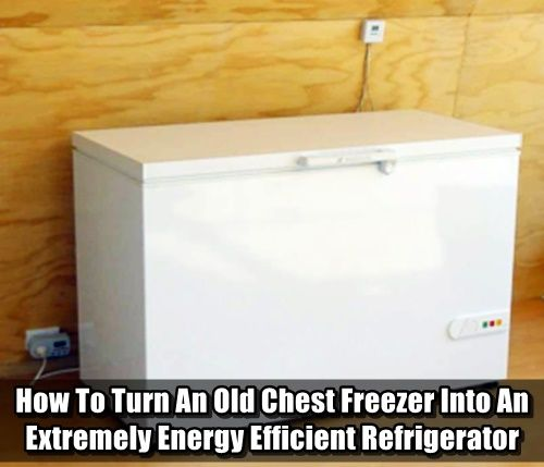 How To Turn An Old Chest Freezer Into An Extremely Energy Efficient Refrigerator - If you are trying to get off the grid, tune up your DIY skills or just want to save more money, this is a really cool project to keep in mind.