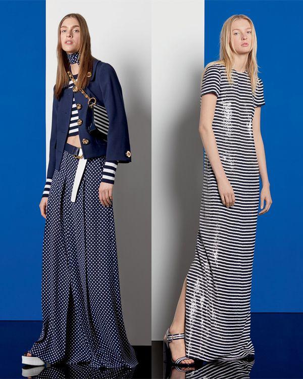 Платье в полоску и юбка в горох Майкл Корс 2017
