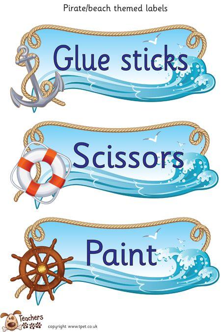 Teachers Pet - Pirate/beach classroom labels. - FREE Classroom Display Resource…