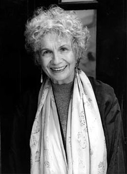 Alice Munro (Nobel Prize in Literature 2013)  (b. 1931) is a Canadian author writing in English. Munro's work has been described as having revolutionized the architecture of short stories, especially in its tendency to move forward and backward in time.