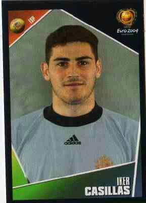 Iker Casillas of Spain. Euro 2004 card.