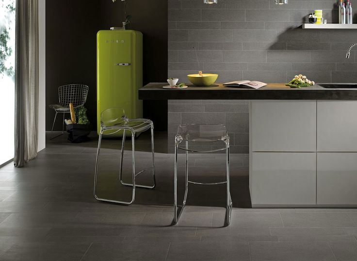 Maintain a modern look with the 6330SP dark stone tile.