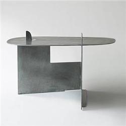Isamu Noguchi Pierced Table Gemini G.E.L. USA, 1982-83 galvanized steel 39.5 w x 37 d x 22 h inches In 1982, Noguchi collaborated with Gemini G.E.L. in Los Angeles to create a series of galvanized steel sculptures