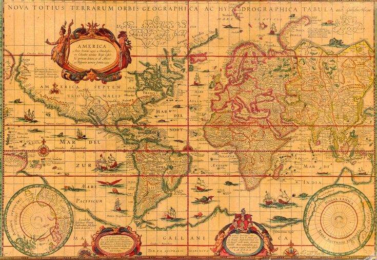 ancient maps | 17th Century World Map
