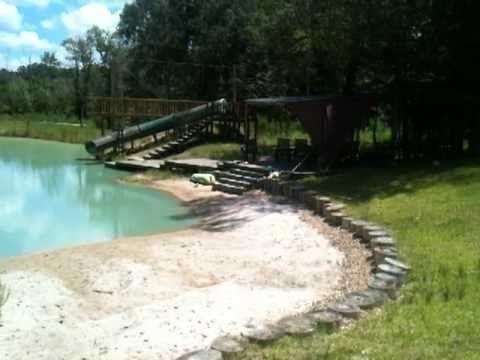 pond with beach entry - gunite