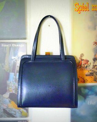 VINTAGE UNIKAT Tasche Kelly Schultertasche Bag 50er Leder Henkeltasche Handbag | eBay