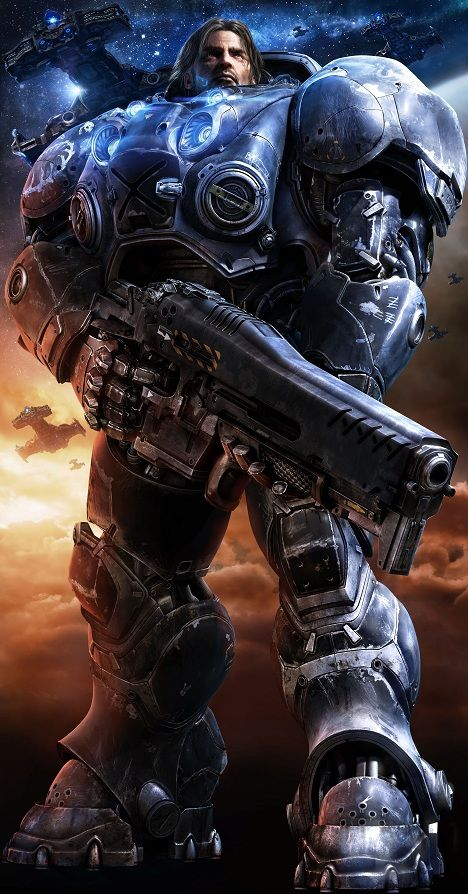 Jim Raynor. Badassary.  Watch Starcraft 2 videos here: http://www.dingit.tv/game/42?utm_source=pinterest&utm_campaign=starcraft_2&utm_medium=social&utm_content=pin