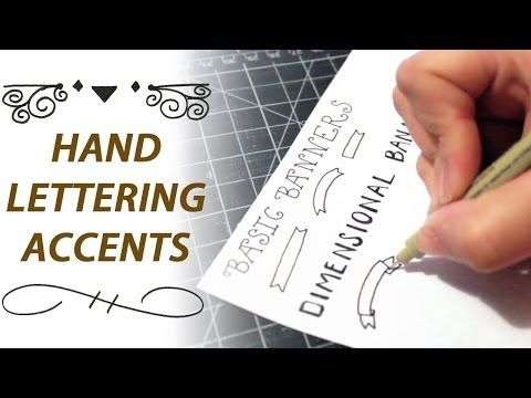 Adding accents like banners to your name Hand Lettering for Beginners: Easy Accents - YouTube