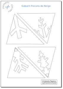 Flocons de Neige en papier - Gabarit de découpe à imprimer