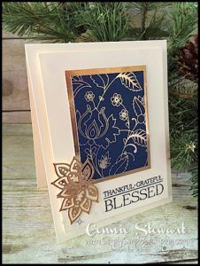 MAKE IT IN MINUTES - Create this shiny and elegant Thankful card in a matter of minutes! Check it out at www.SimplySimpleStamping.com - look for the October 12, 2016 blog post