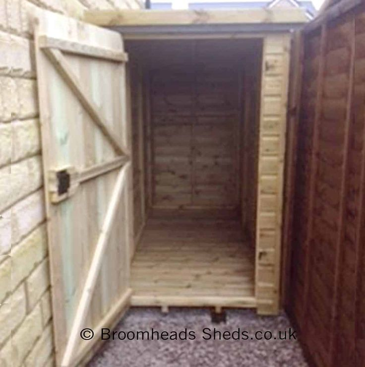 Height 6ft: Garden Store Shed 16mm Tanalised Timber Pent Roof Max Height 6ft. Double doors or Single door either in the width or depth