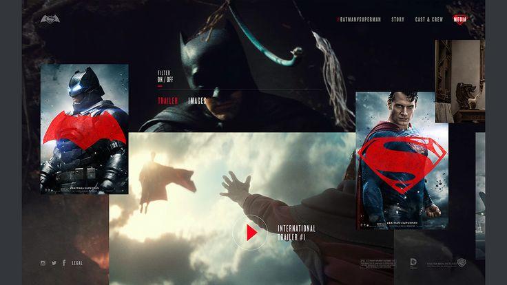 Batman v Superman: Dawn of Justice Website on Web Design Served