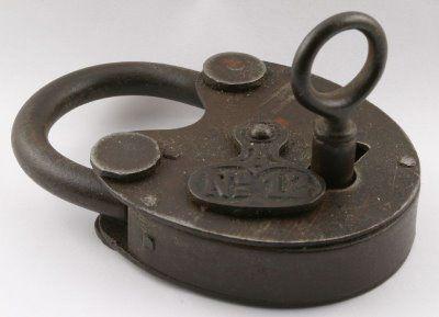 Old Padlocks and Keys | padlock lock n 12 old padlock likely from germany with original key ...