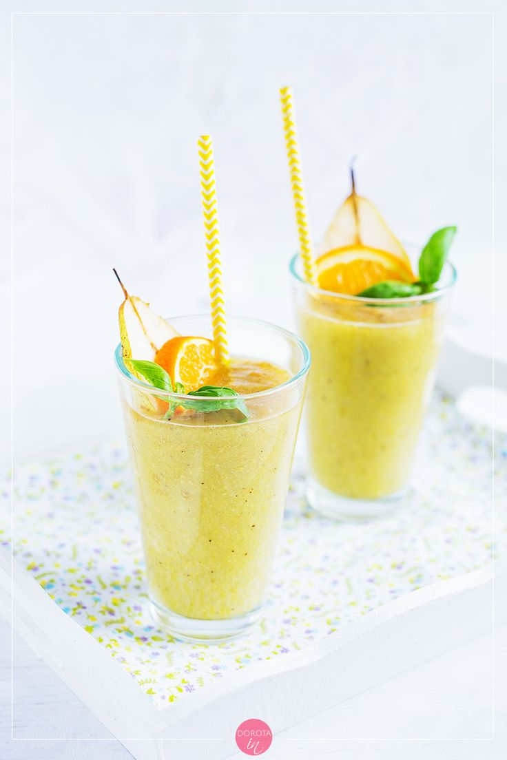 Koktajl z gruszki, idealne śniadanie lub deser. #gruszki #koktajl #smoothie #przepis