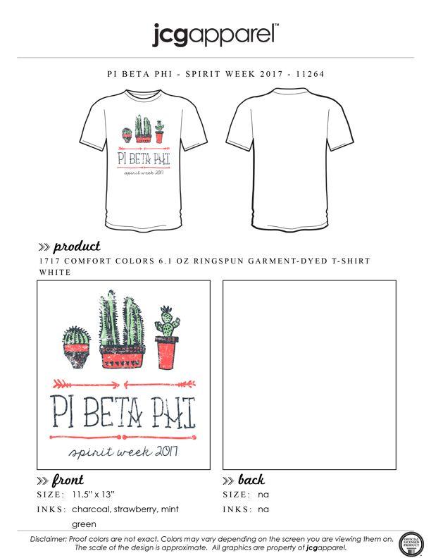 JCG Apparel : Custom Printed Apparel : Pi Beta Phi Spirit Week T-Shirt #pibetaphi #piphi #pbp #spirit #week #cactus #stuck #stuckwithme