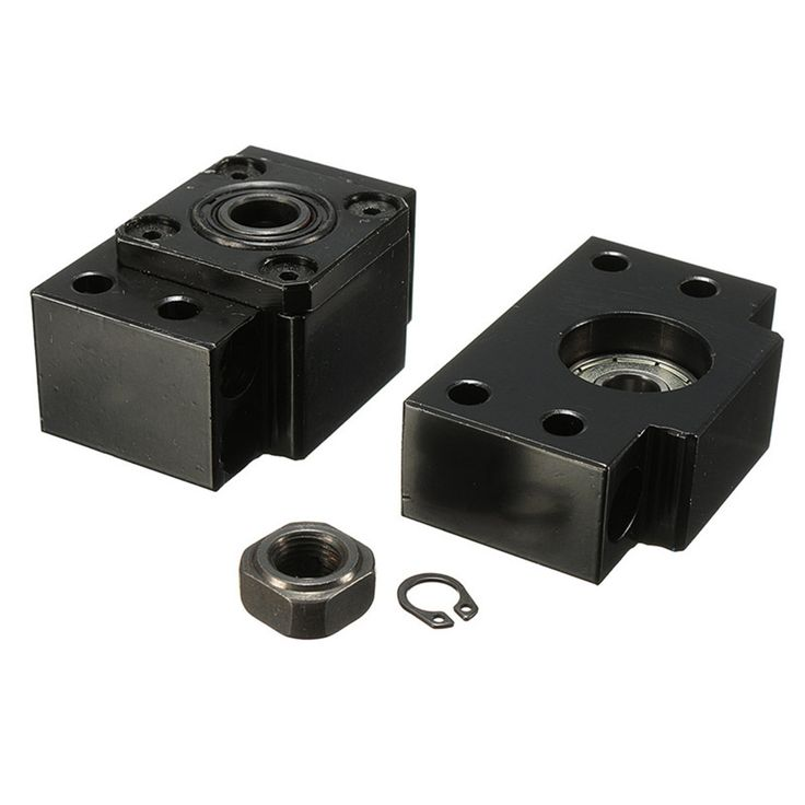 BK10BF10 Ballscrew End Support Bearing Blocks For SFU1204 CNC Machine Parts  Features: - Highly wear-resistant anti-corrosion durable - Bright Surface and very clean - Widely used in wind power solar equipment electronic equipment machinery and other industrial fields Specifications: Model: BK10BF10 Material: Bearing steel Color: Black Size: BK10 Size: 60mm32mm(LW) BF10 Size: 60mm30mm(LW) Use For: SFU1204 Package included: 1 BF10 BK10 with locknuts and cir-cplis  EUR 16.84  Meer informatie